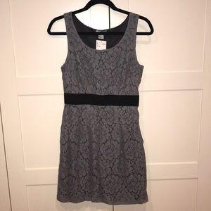 NWT H&M gray lace dress